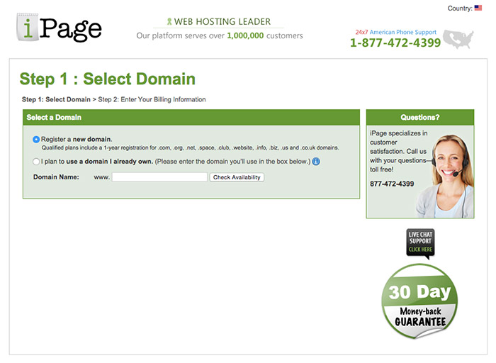 step 1 choose your domain name
