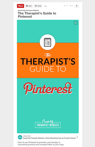 Setting up rich pins for your therapy website