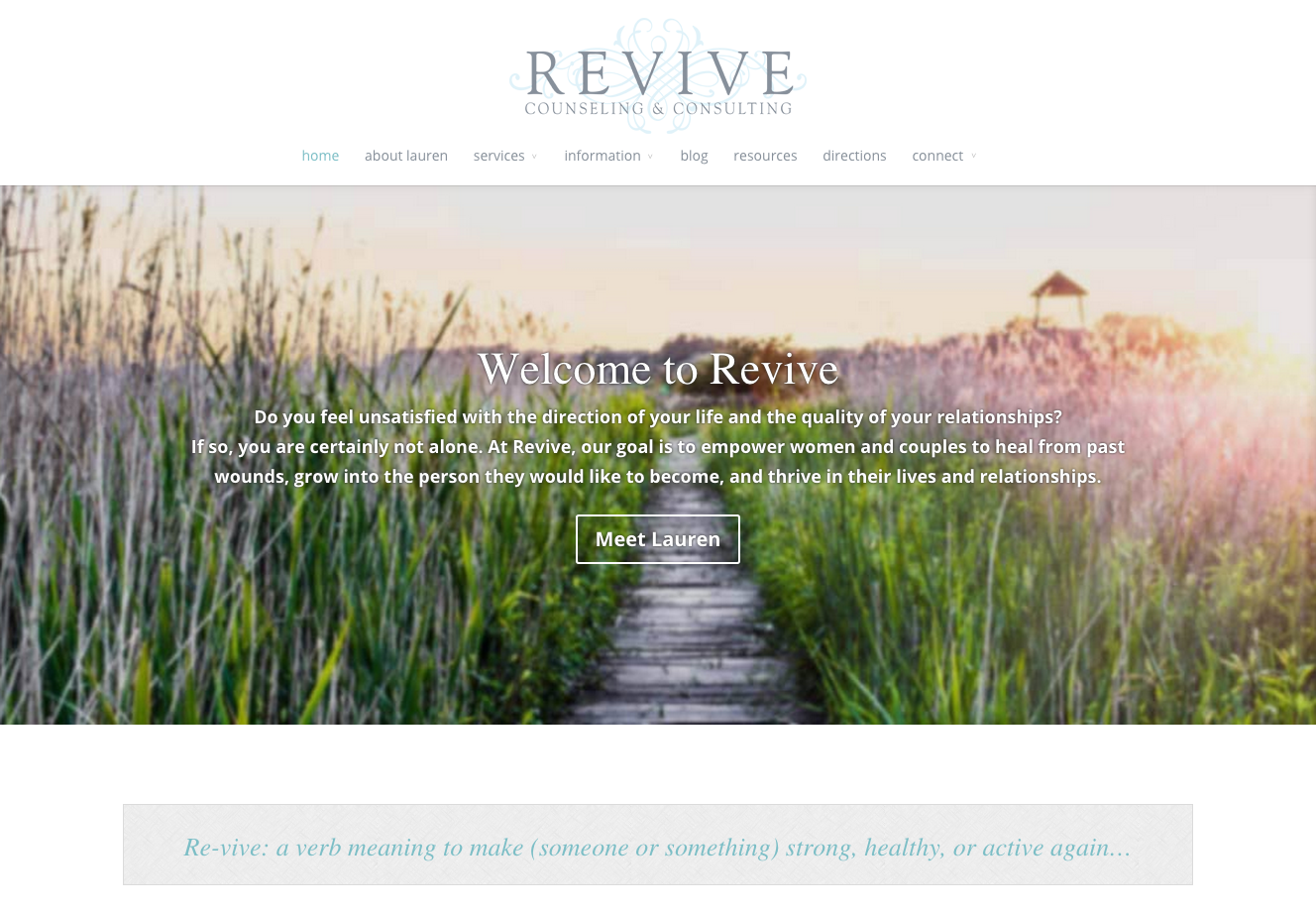 Revive website example 1