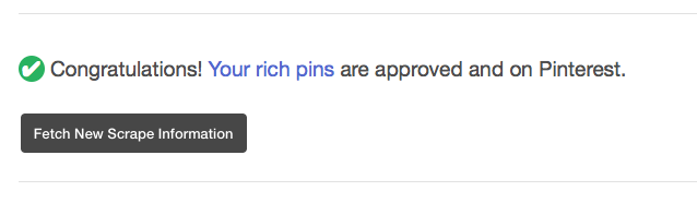 Rich pins validated