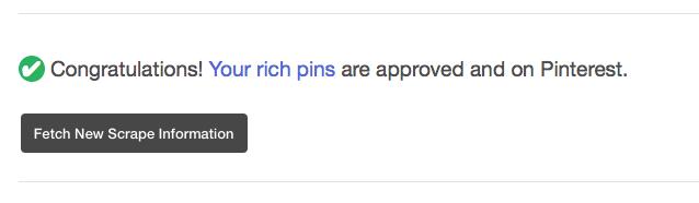 Rich pins validated