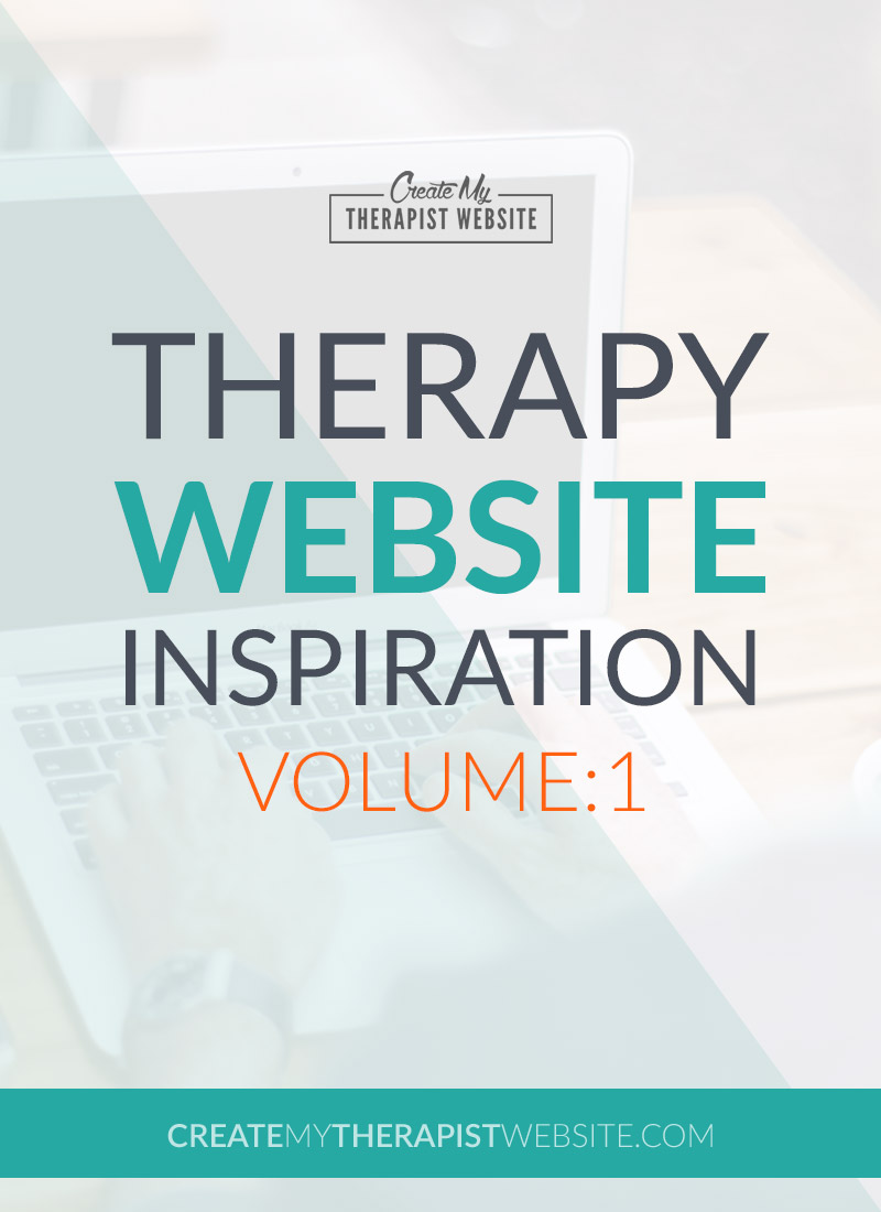 Some great examples of therapy websites, for your inspiration.
