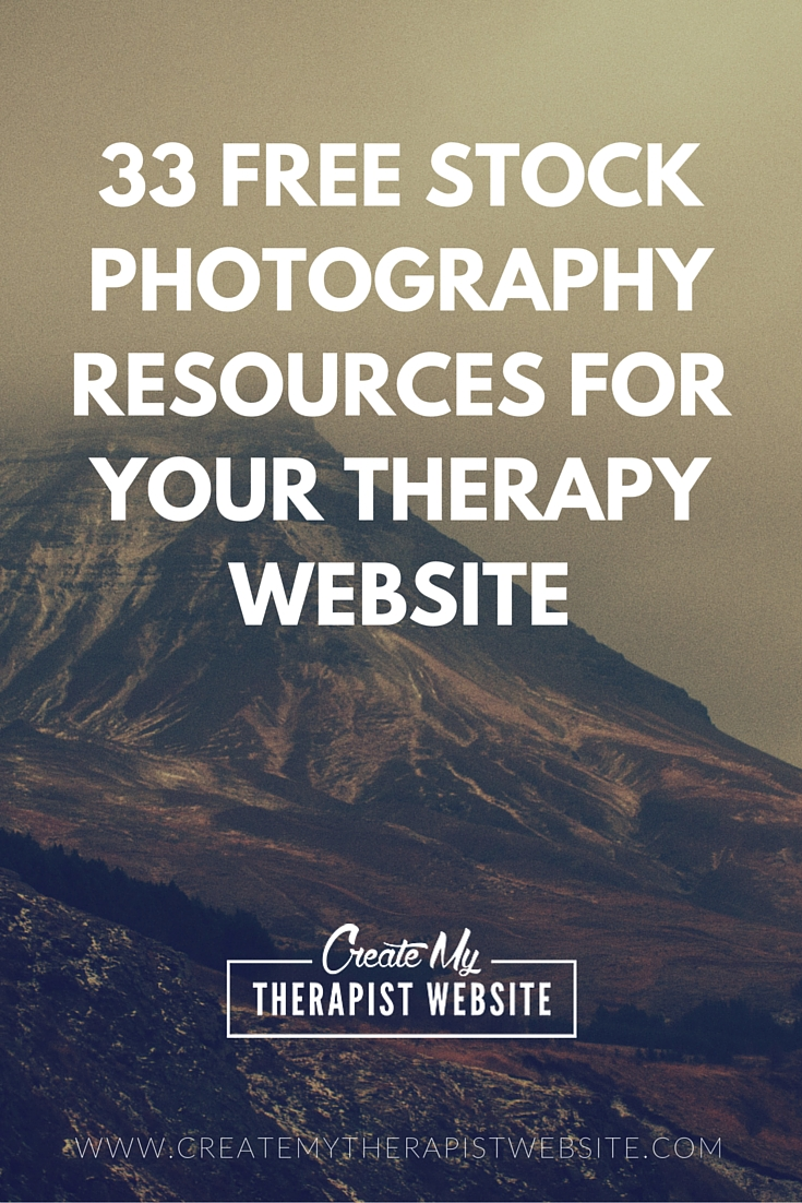 33 FREE Stock Photography Resources for Your Therapy Website. Here's the ultimate list of places to find free images for your private practice website/blog.
