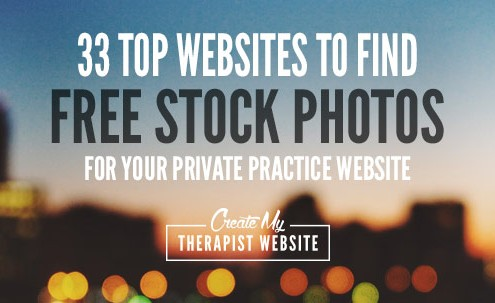 Free stock photo sites to help you create your private practice blog