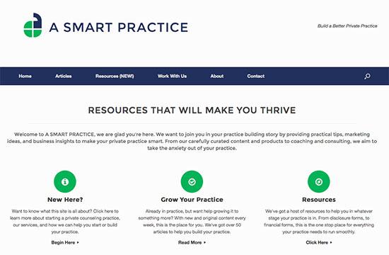 a smart practice website