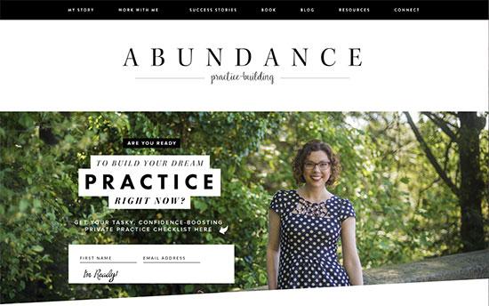 abundance practice building with Allison Puryear