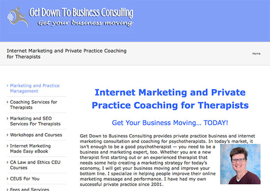 get down to business consulting website