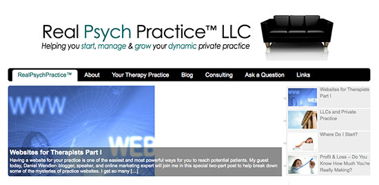 real psych practice homepage