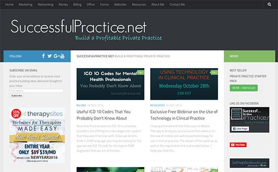 successful practice website