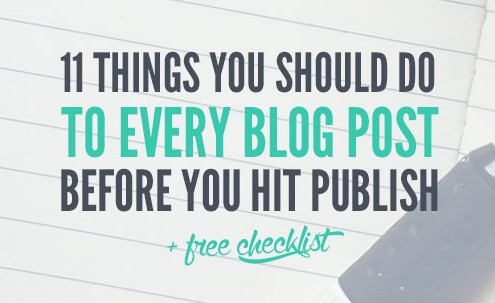 In this post, I'll share 11 things to do before you publish your next blog post. Making these things a habit along with your blogging routine will help ensure each post is the very best it can be. I also created a free checklist you can download and refer to during your next coffee-fueled blog-writing session. (or am I the only one who needs coffee when they blog?)