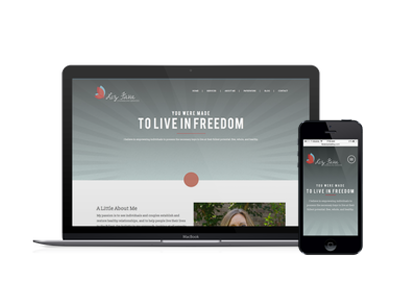 Hire me to create a custom therapy website using WordPress