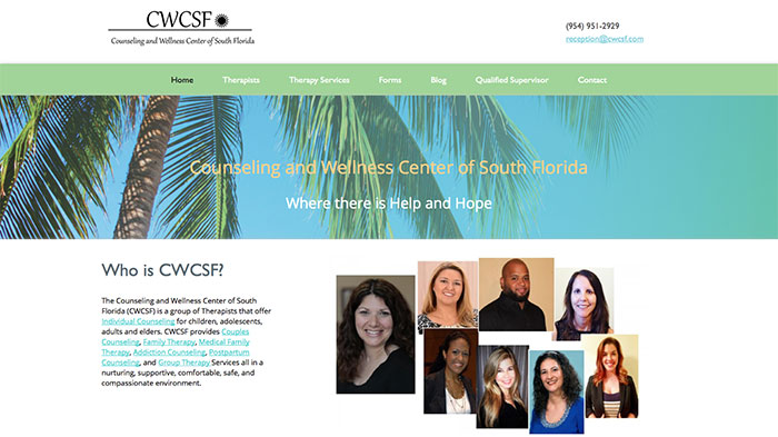 Counseling Wellness Center website