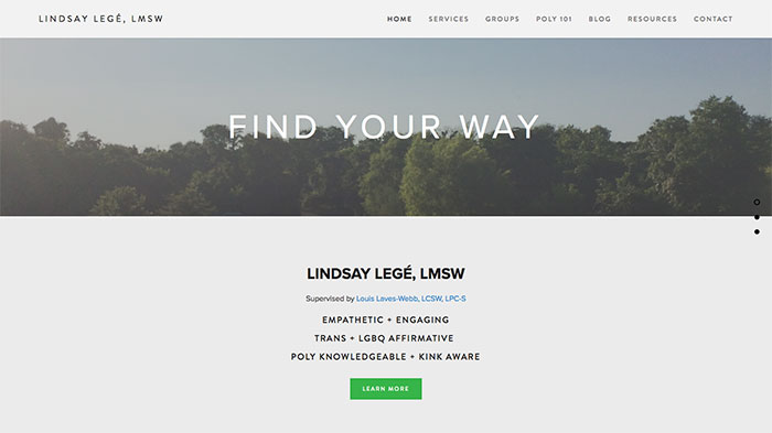 LMSW counseling website examples