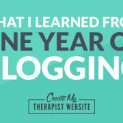Blogging and marketing tips for therapists