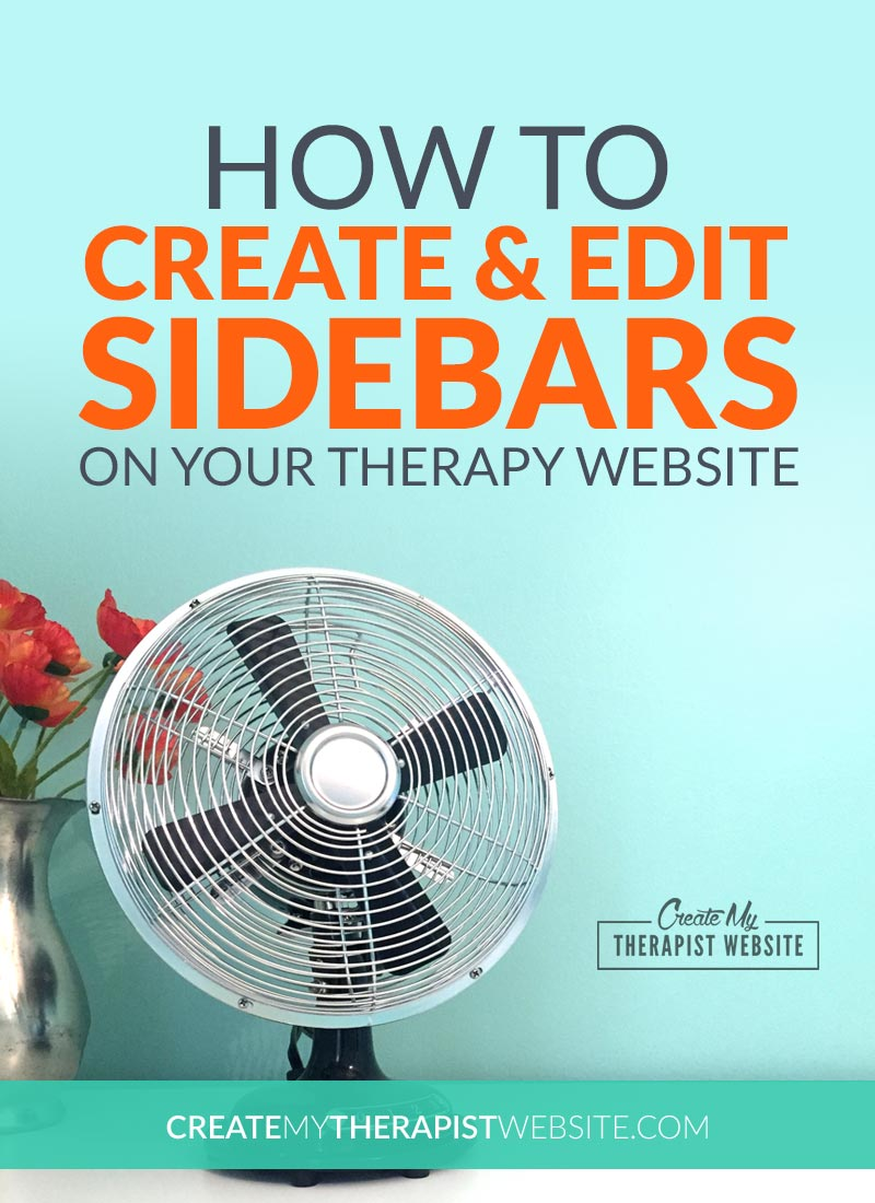 The sidebar on your private practice website can be a great place to quickly display some of your most important info to potential clients. In this post I'll take you through the process of creating a sidebar for your therapy blog, using WordPress, so that you'll know exactly how to build one yourself.