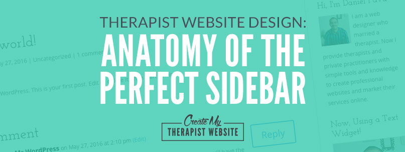 In this post we discuss what to include in the sidebar of your counseling website