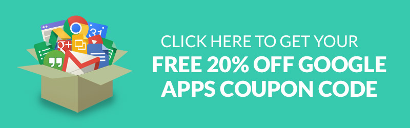 Free 20% coupon code for Google Apps for Work