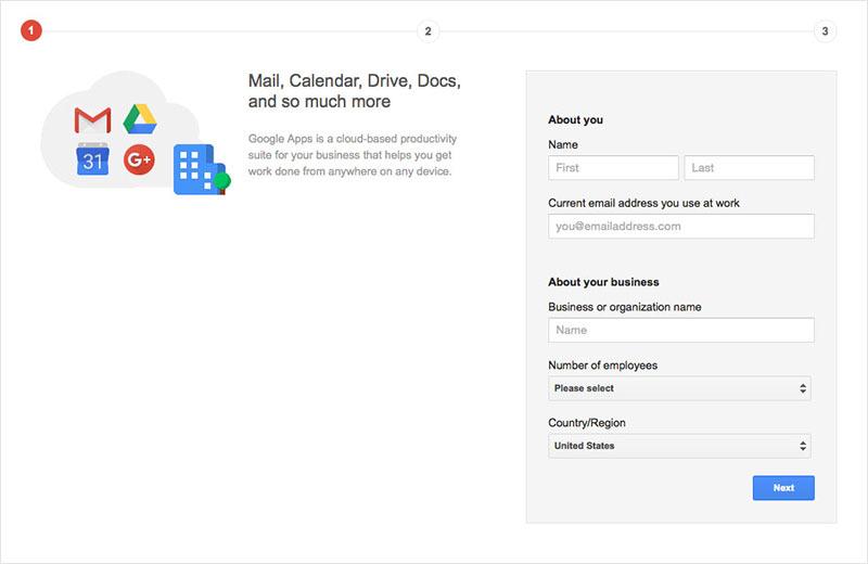 setup gmail therapy custom website domain