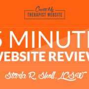 Get a web designer to review your private practice website