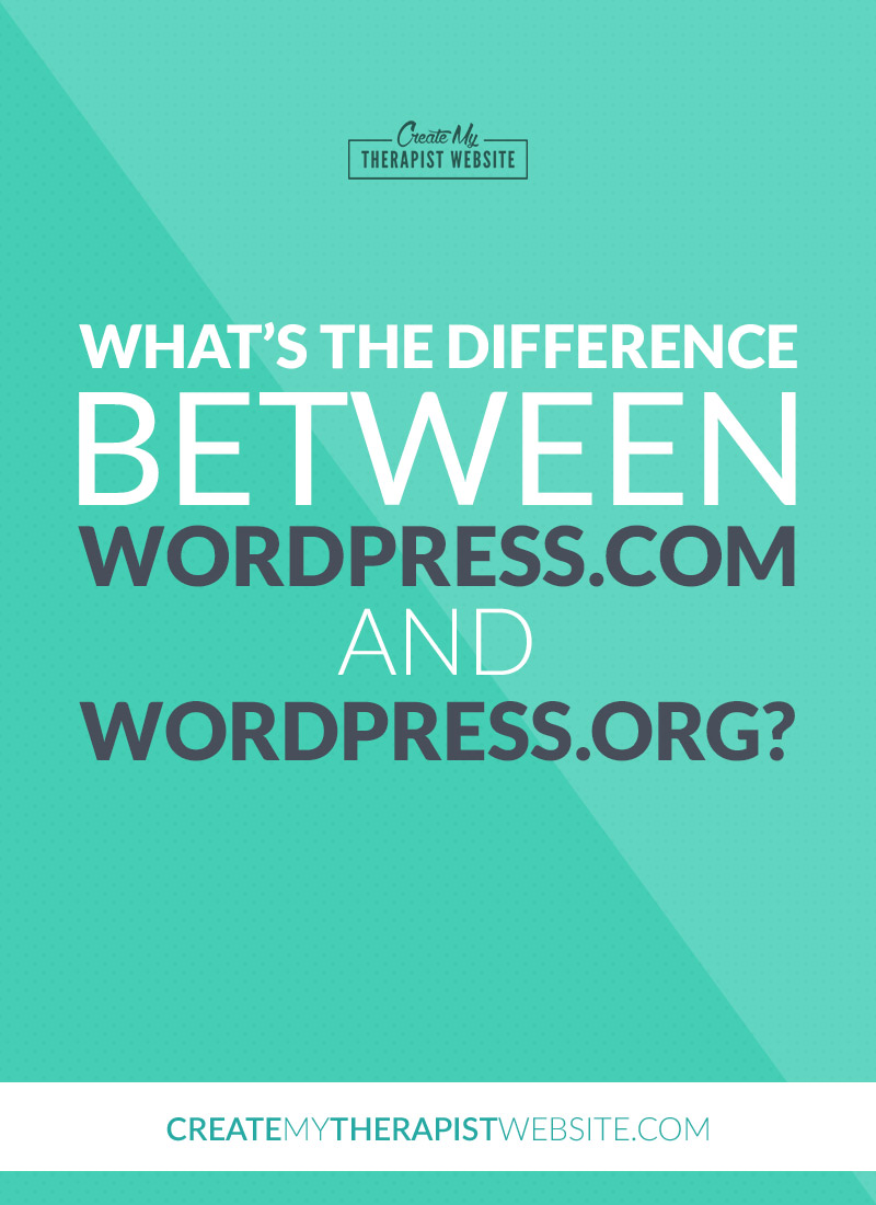 In this article we'll talk about the difference between wordpess.com and wordpress.org to help you understand which platform may be right for your therapy website.
