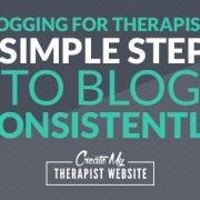 Ever feel like you can't overcome that blank word document and consistently write blog posts for your private practice? These 3 simple steps will help you avoid that.