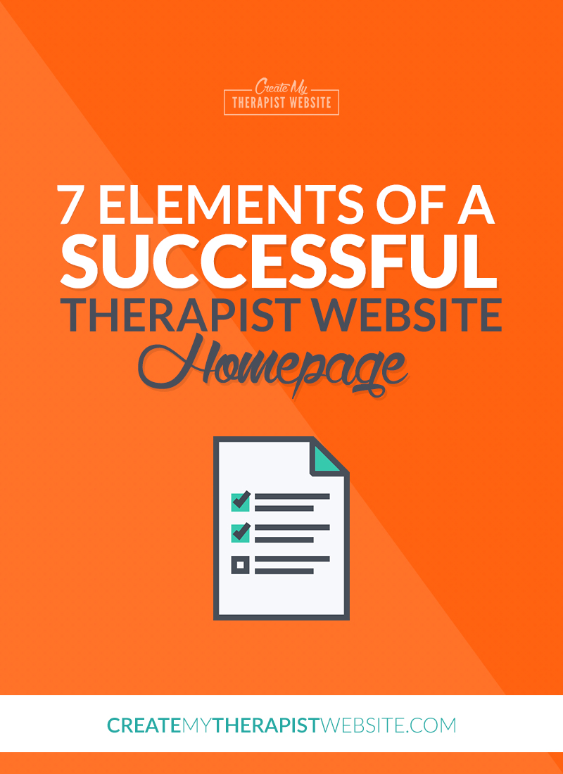 7 elements of a successful therapy website homepage pin