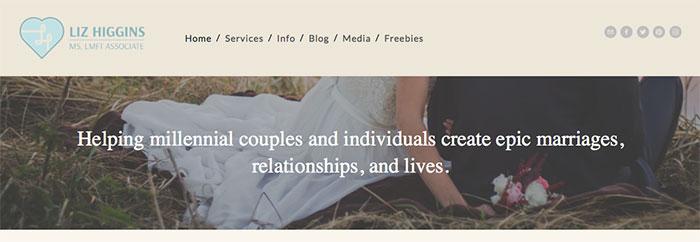 liz higgins marriage counseling headline
