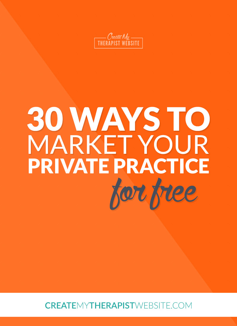 If you're just getting your private practice off the ground, every penny counts. At this crucial time in your business, spending hundreds of dollars on advertising may just not feasible for you. Luckily, there are many ways for you to market a private practice for free. In this blog post I'll share with you 30 ways you can market your therapy practice without costing you a cent.