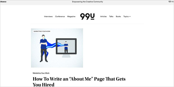 about page psychotherapist 99u