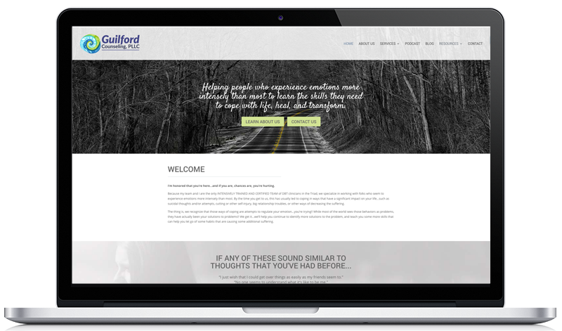 Custom Therapy Website guilfordcounseling.com
