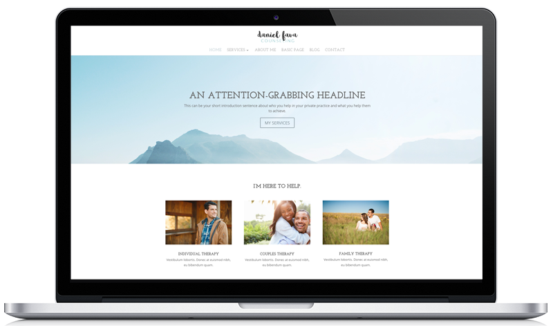 Customizable therapy website template 1