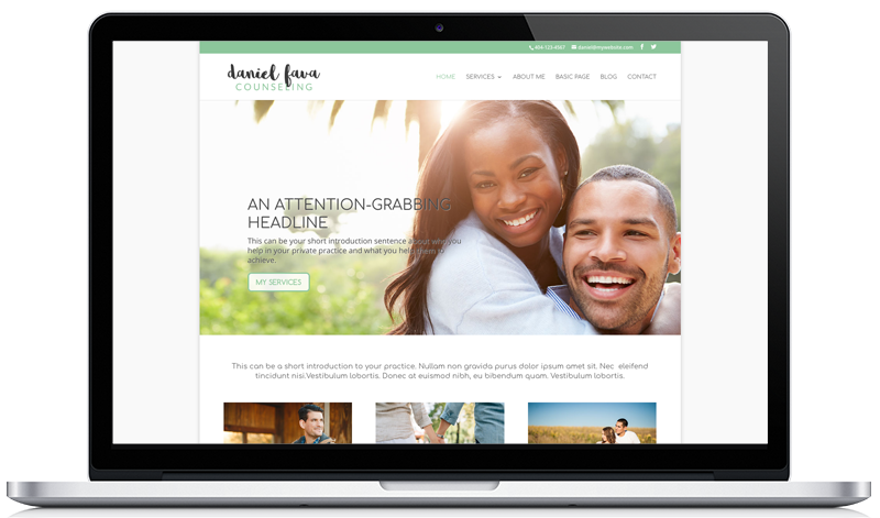 Customizable Therapy Website Template 3