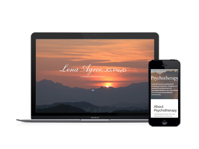 Psychotherapy Website - Lena Agree