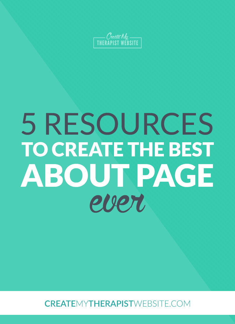 Your about page on your private practice website is a huge asset to your business. This page is often one of the most-visited pages on your website, so it's important that you spend time making sure your about page works for you, turning potential clients into paying ones. In this blog post I'll give you some great resources to help you write your about page to speak to your potential clients.
