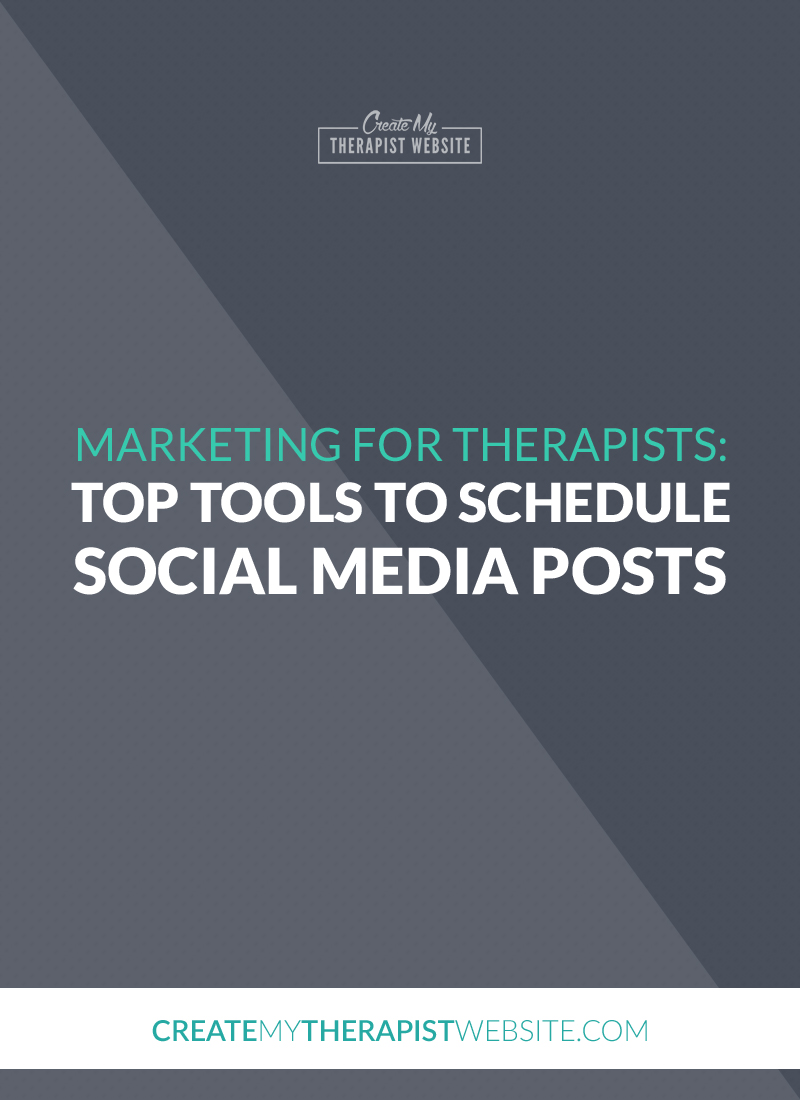 Social media can be a great way to market your private practice, reach new clients and drive traffic to your therapy website. But it can also suck a lot of your time and become an ugly monster that always seems like it needs to be fed. In this post I'll share some tools that let you schedule your social media posts to help you save time and keep you sane.