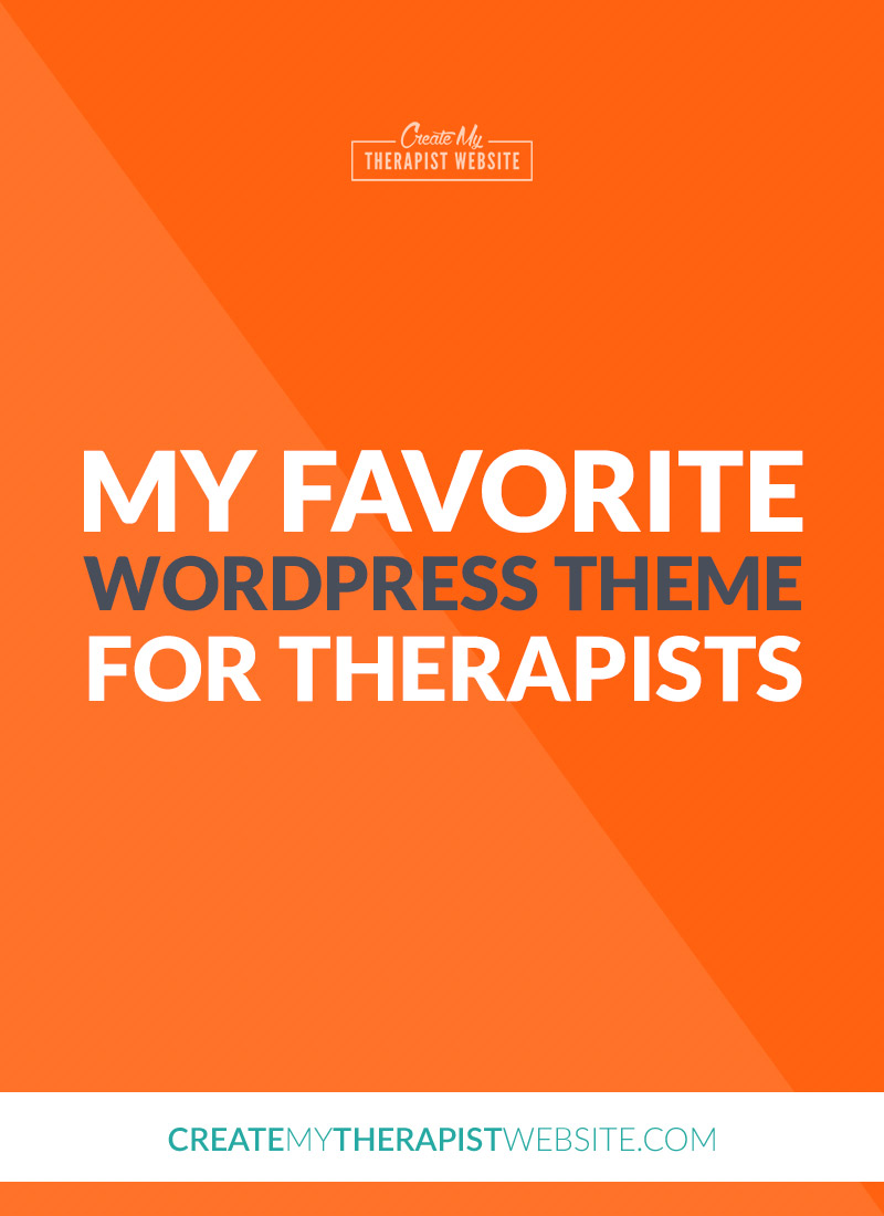 favorite wordpress theme for therapists private practice pin
