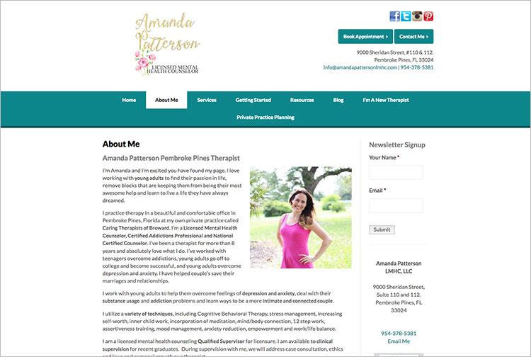 Amanda Patterson LMHC Therapy Pembroke Pines FL