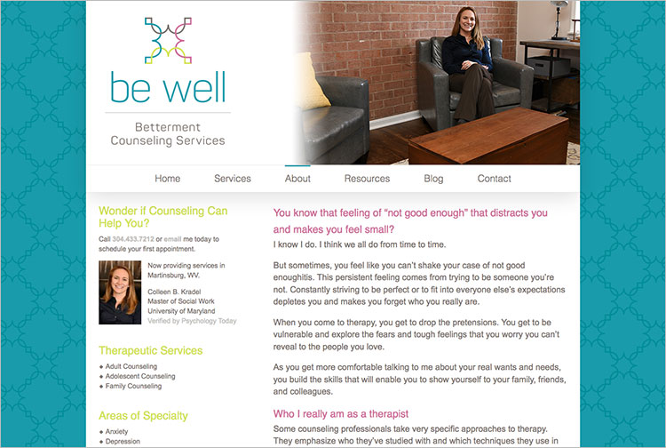 Be Well Betterment Counseling Service About