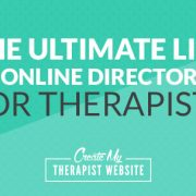 Online directories are often the first place a therapist will go to get their services out into the world. They can be a great source for new clients coming into your private practice especially when starting out.