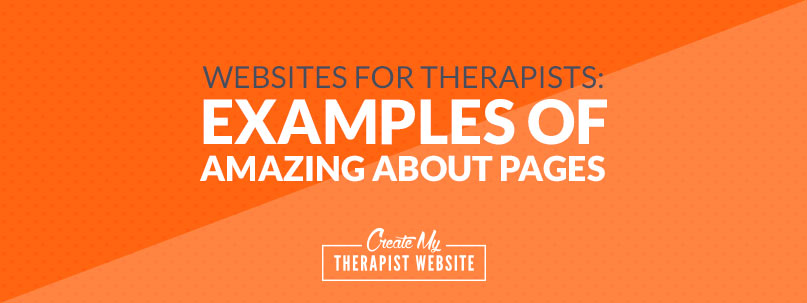 Examples of amazing therapist about pages