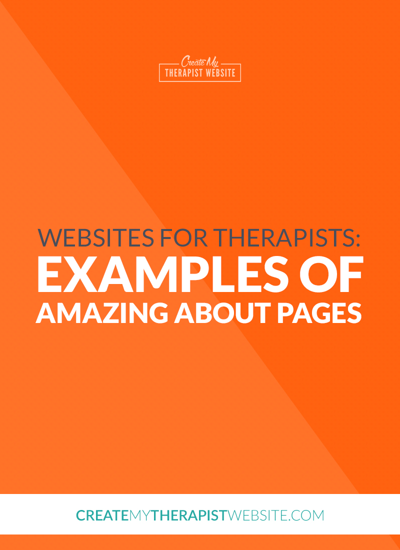 Your About page is one of the most important pages on your private practice website. Because it be one of the most visited pages on your website, it's vital that your About page helps you stand out. Your About page is a place where potential clients will go to learn more about you, your practice and attempt to find the connection they need when searching for a therapist to help them with the challenges they are facing. But writing and creating content for your own About page can be very overwhelming. I myself have written and re-written the content on my About page multiple times! To help with your About page woes, I've gathered 10 great about pages for therapists to inspire you.