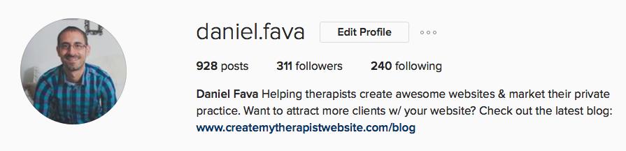 instagram free traffic private practice