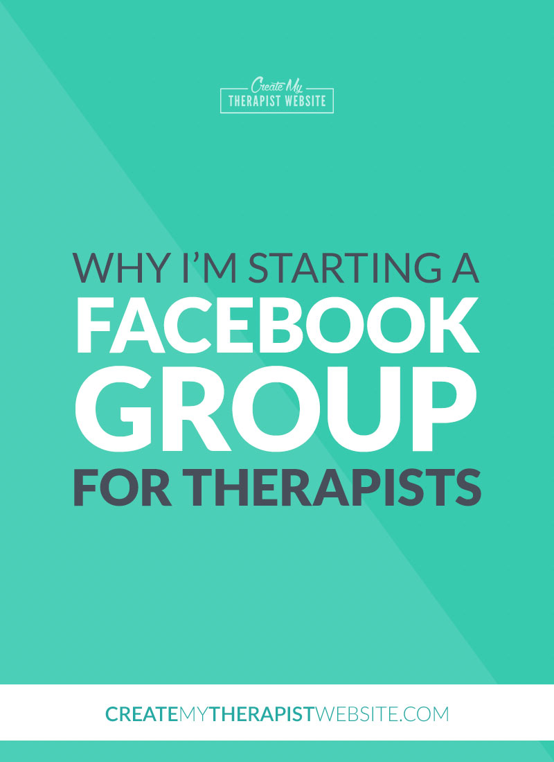 online marketing facebook group for therapists pin
