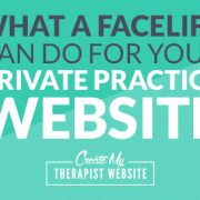 Learn how a simple facelift changed this therapy website