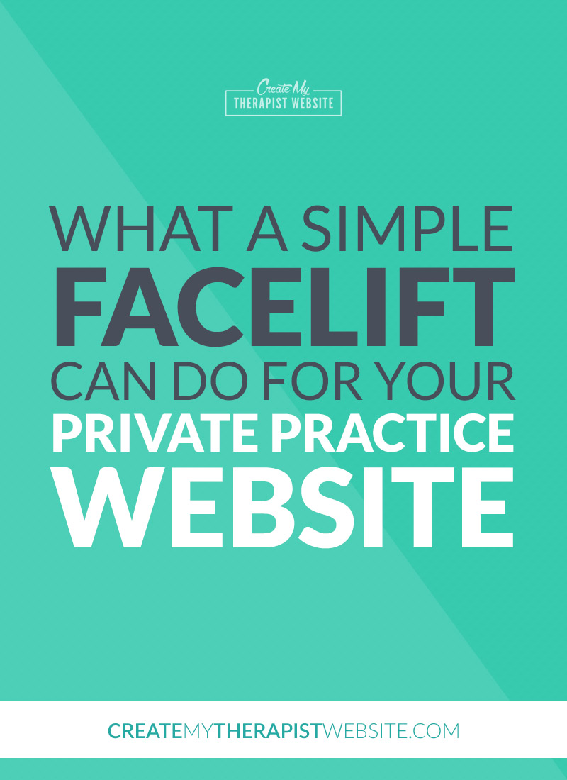 private practice website facelift pin