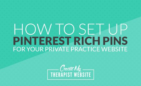 Rich Pins allow Pinterest to display extra information about you and your website when pinning content from your website. It's a great way to stand out on Pinterest and makes it easier to drive traffic back to your therapy website. In this post we'll go over what Rich Pins are exactly and how to get started using them on your own Pinterest profile and private practice website.