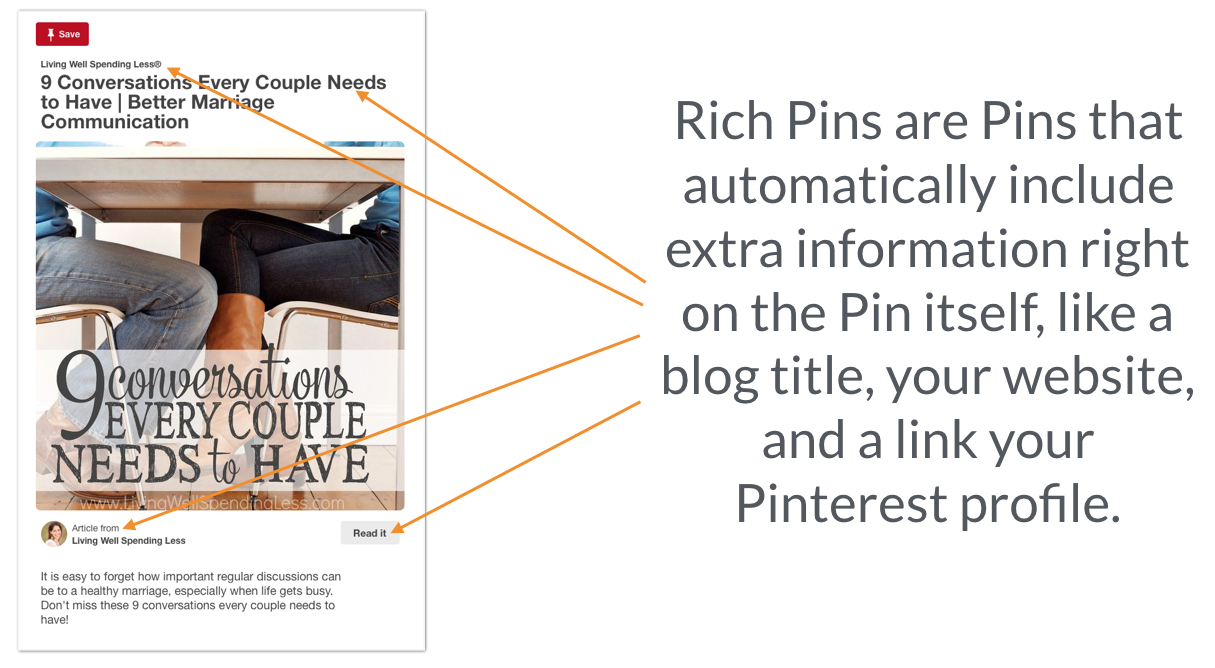 pinterest for therapists rich pin