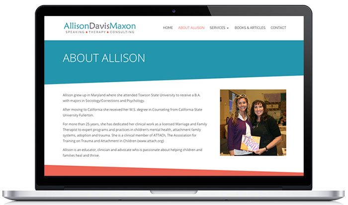 allison maxon therapy website about 1
