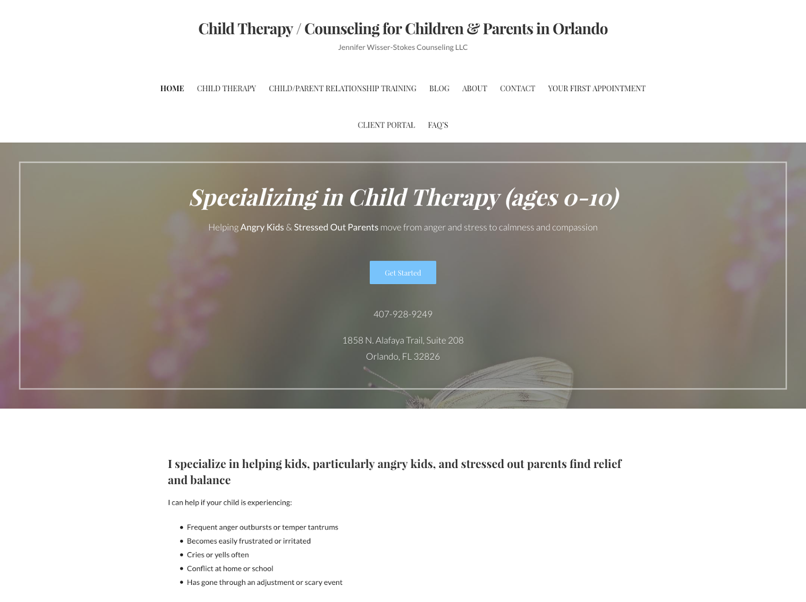 Child Therapy Counseling for Children Parents in Orlando Jennifer Wisser Stokes Counseling LLC