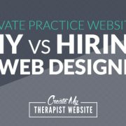 When it comes to building a website for your private practice, you basically have two options: build it yourself or have someone else do it for you. In this article, I'll share my thoughts on when to DIY your therapy website and when to hire a professional to do it for you.